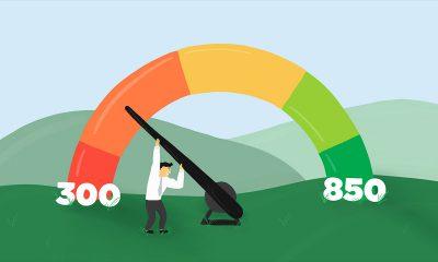 Animation pushing up the credit score meter bar
